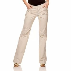 Theory stretch kaki  flare  pants